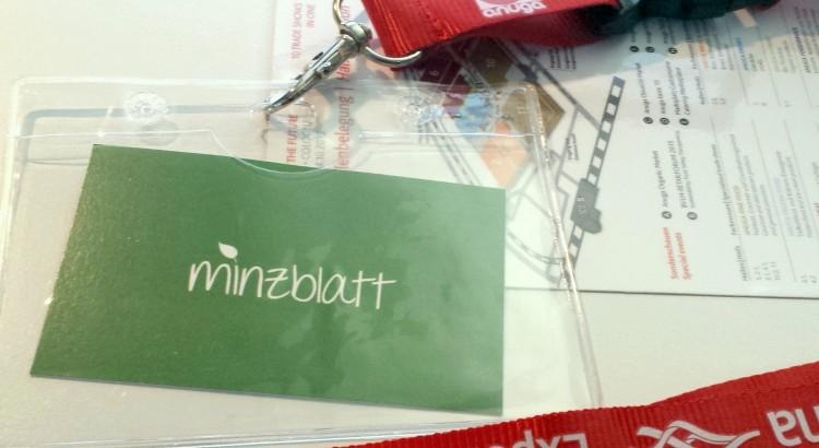 Visitenkarte minzblatt
