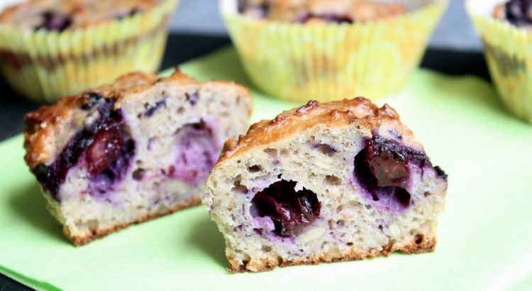 Bild vom Muffin mit Heidelbeeren