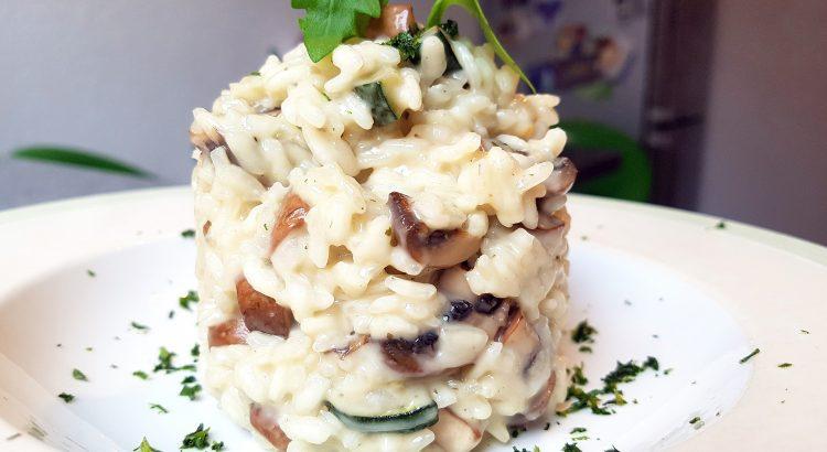 Bild vom Zucchini-Pilz-Risotto