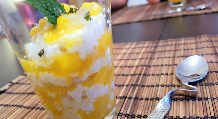 Bild vom Dessert Kokos-Milchreis mit Mango-Kardamom-Kompott